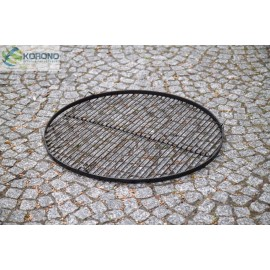 Round steel grill grate