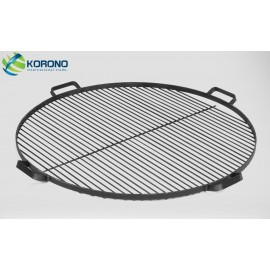 Round steel grill grate with handles