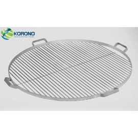 Round stainless steel grill grate with handles