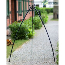 200 cm tripod for grill with curved legs