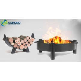 Fire bowl, fireplace, barbeque 320 Ø 80cm + wood rack