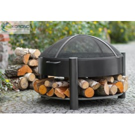 Fire bowl, fireplace, barbeque 325 Ø 60cm, 70cm + screen mesh 670