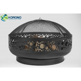 Fire bowl, fireplace, barbeque 350 Ø 80cm + screen mesh 670