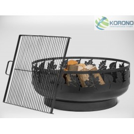 Fire bowl, fireplace, barbeque 351 Ø 80cm + grill grate
