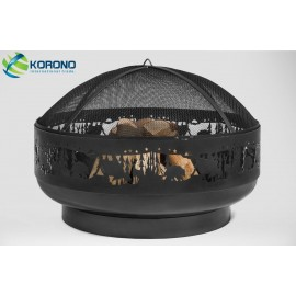 Fire bowl, fireplace, barbeque 352 Ø 80cm + screen mesh 670