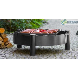 Fire bowl, fireplace, barbeque 320 Ø 60cm, 70cm, 80cm + grill grate