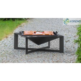 Fire bowl, fireplace, barbeque 330 Ø 70cm x 70cm + grill grate
