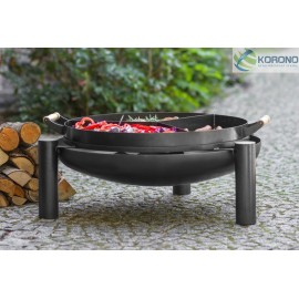 Fire bowl, fireplace, barbeque 315 - Ø 80cm + 3 chamber pan with holder Ø 70cm