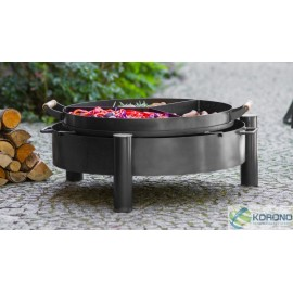 Fire bowl, fireplace, barbeque 320 Ø 80cm + 3 chamber pan with holder Ø 70cm